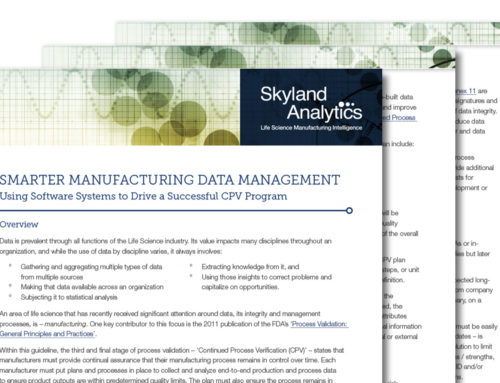 Smarter Manufacturing Data Management – Using Software Systems to Drive a Successful CPV Program