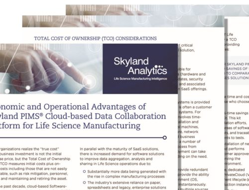 Economic and Operational Advantages of Skyland PIMS® Cloud-based Data Collaboration Platform for Life Science Manufacturing