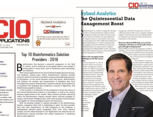 Skyland Named as Top 10 Bioinformatics Solution Provider by CIO