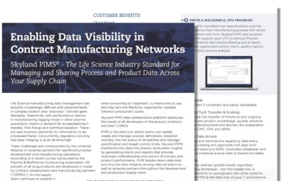 Skyland CDMO Supply Chain Data Visibility