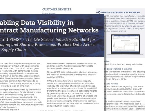 Enabling Data Visibility in Contract Manufacturing Networks