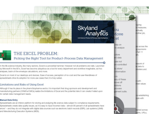 The Excel Problem: Picking the Right Tool for Product-Process Data Management